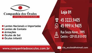 Ótica Companhia dos Óculos - Centro, Cascavel, PR - Apontador cf3b810479