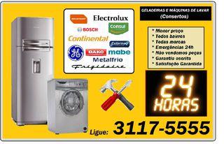 Emergências 24hs Geladeiras e Máquinas Lavar. Consertos Ligue: Orçamento Por Telefone! by Assistencia Técnica Geladeiras 24hs - Atendimento De Emergências
