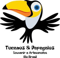 Tucanos Papagaios Souvenir Artesanato Rio Brasil by Renata Da Hora Dos Santos