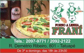 Foto de  Frani Pizzas - Tatuapé enviada por Carlos Moreno em