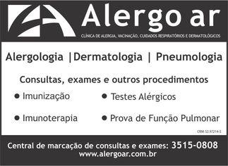 Foto de  Alergo Ar Clínica de Alergia e Respiração - Madureira enviada por Edielle Moura em 15/09/2014