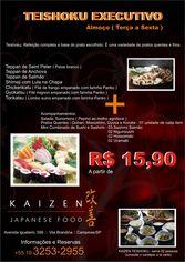 Foto de  Kaizen Japanese Food enviada por Eduardo em 25/10/2010