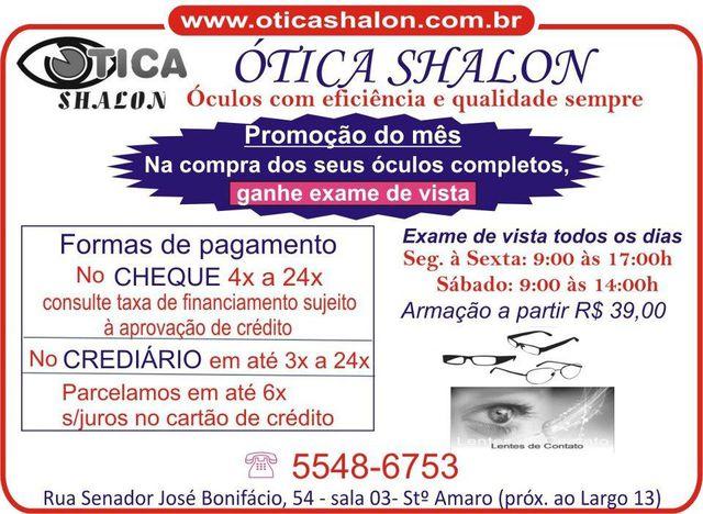 Ótica Shalon - Santo Amaro, São Paulo, SP - Apontador 6ec812348b